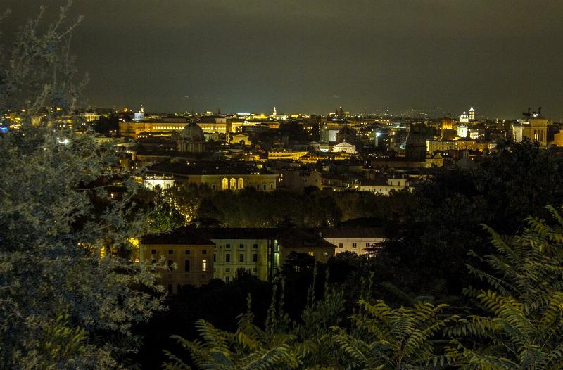 Рим ночью со смотровой площадки