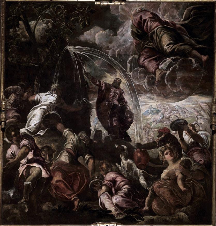 Моисей, высекающий воду из скалы