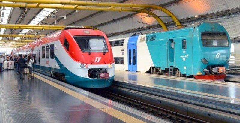 Поезд Леонардо Экспресс и городская электричка
