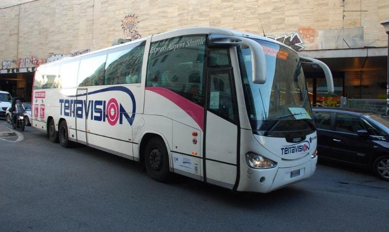 Автобус Терравижн для поездки из Фьюмичино в Рим