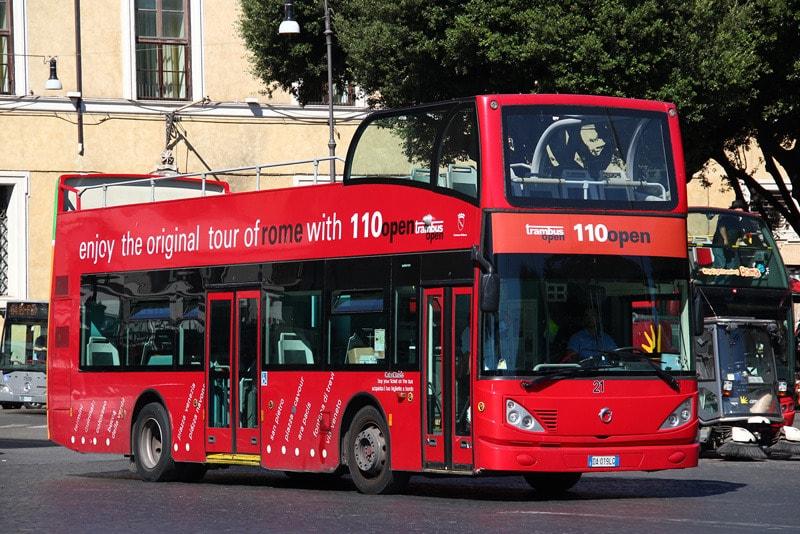 Автобус 110 Open в Риме