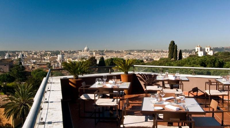 Вид на Рим с района Фламинио из отеля