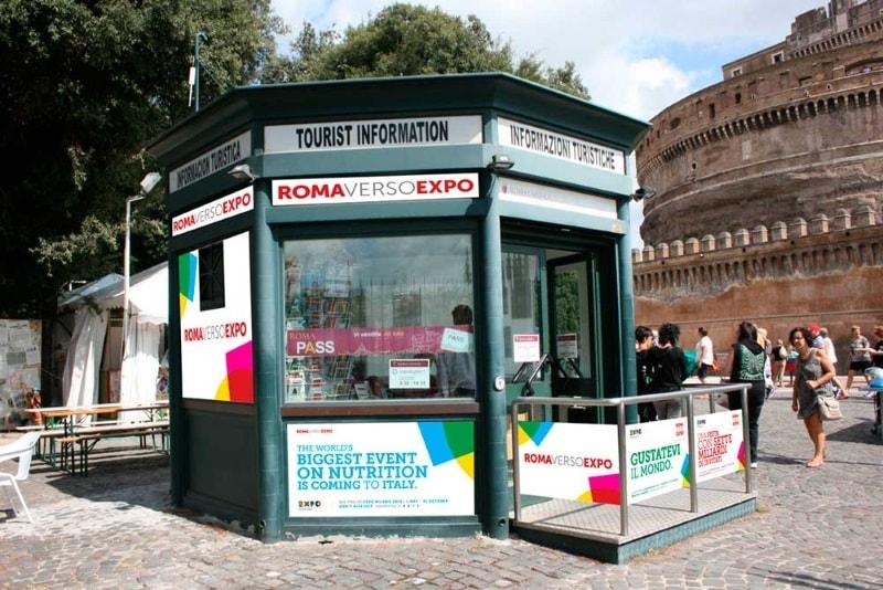 Точка покупки Roma Pass, PIT