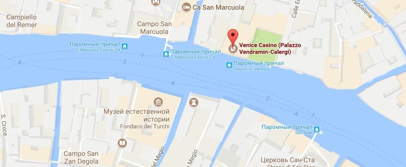 Палаццо Вендрамин-Калерджи карта