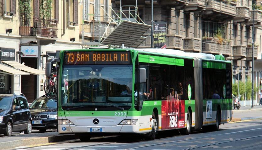 Автобус в Милане