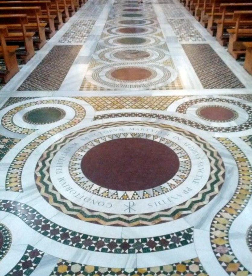 Базилика Санта-Кроче напольное покрытие