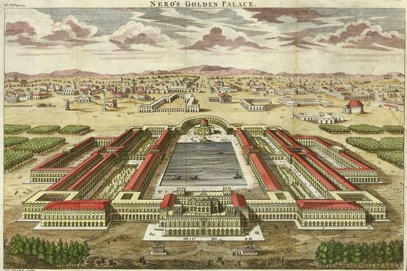 Золотой Дом Нерона - крупнейшая из существовавших в Европе городских резиденций правителей