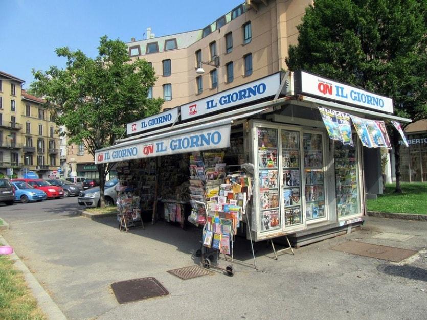 Газетный киоск в Милане