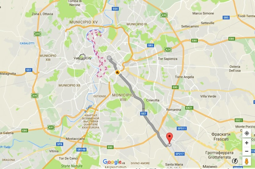 Как добраться из аэропорта Чампино в Рим