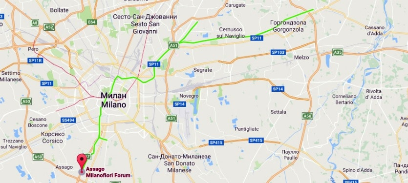 Линии метро в Милане М2