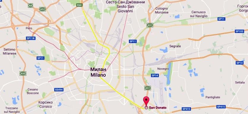 Линии метро в Милане М3