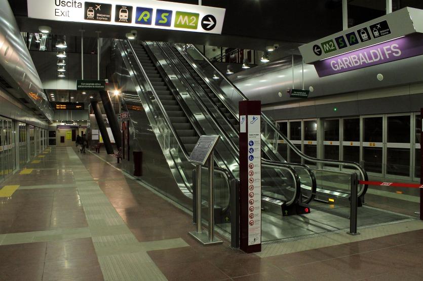 Линии метро в Милане