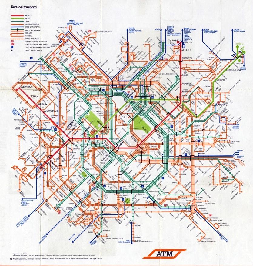 Mаршрут автобусов Милана