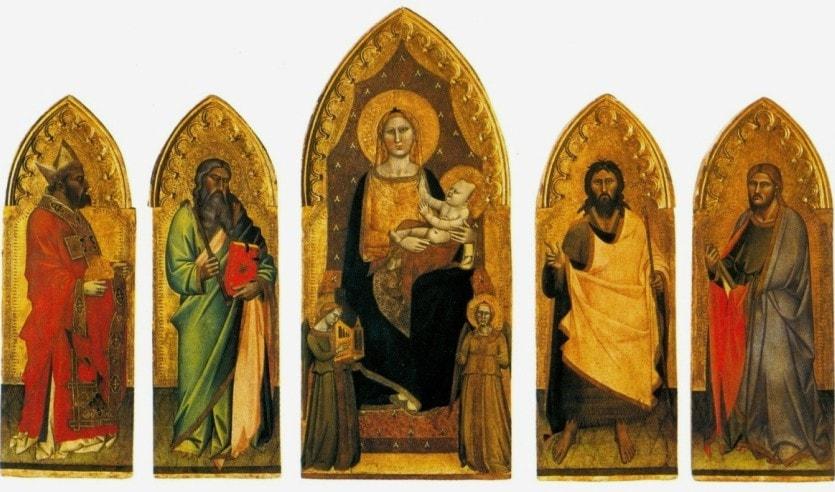 Полиптих Андреа Орканьи в Галерее Академии изящных искусств во Флоренции