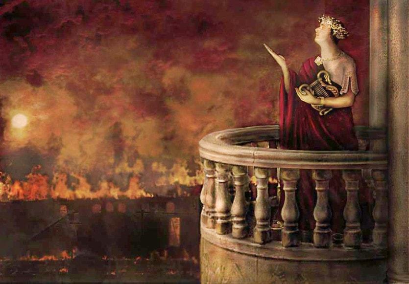 Считается, что Нерон организовал пожар в Риме в 61 году, чтобы освободить место для строительства