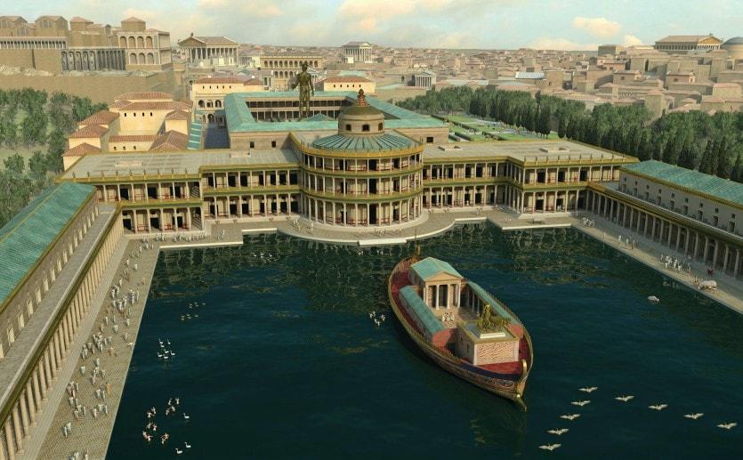 Резиденция Нерона в Риме Золотой Дом