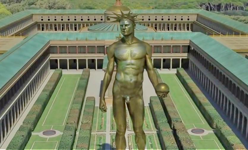 Статуя Нерона в резиденции Золотой Дом в Риме