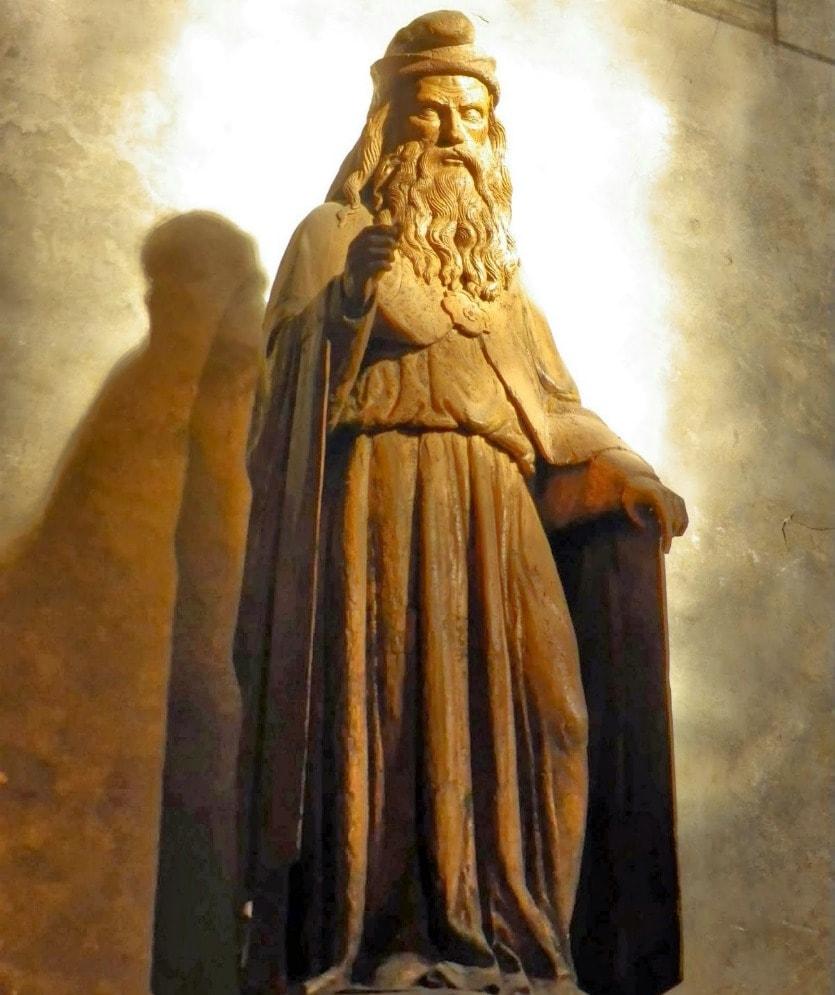 Статуя святого Иоанна Крестителя