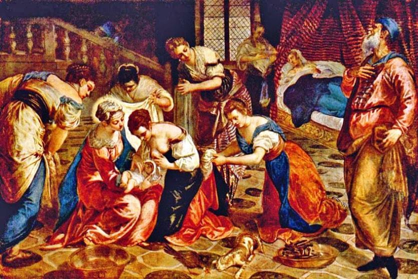 Тинторетто «Рождение Иоанна Крестителя»