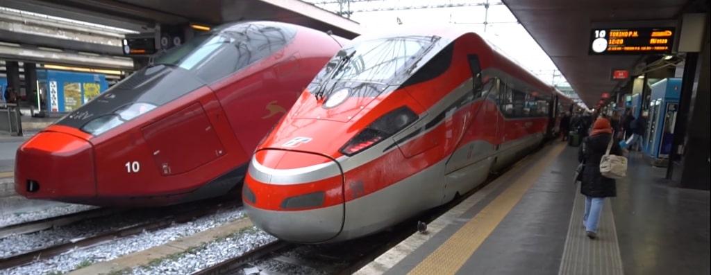 Поезда компаний Italo и Trenitalia
