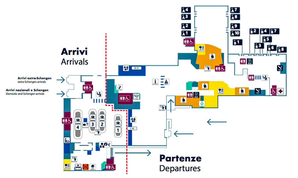 Схема терминала Чампино