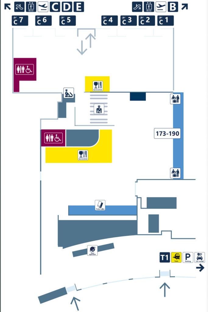 Терминал 2 аэропорта Фьюмичино. Зона отправления
